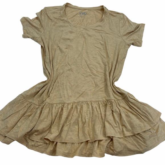 LOGO BY LORI GOLDSTEIN Short Sleeve Tunic Dress M